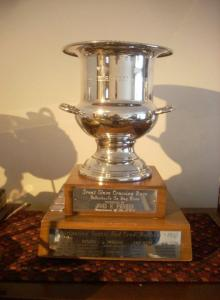 On of the sailing trophies won by my Dad. This is the Commissioner's Cup, a race across Great Slave Lake.