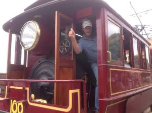 Dad checking out a train, somewhere in the world...