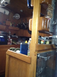 Galley - not very shipshape right now.